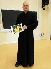 Trevor Day from Christ Church did an assembly for the whole school.