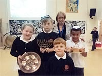 Mrs Jensen led an assembly about Judaism for the whole school