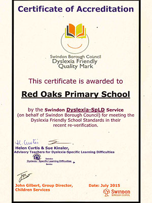 Dyslexia Friendly Schools Award