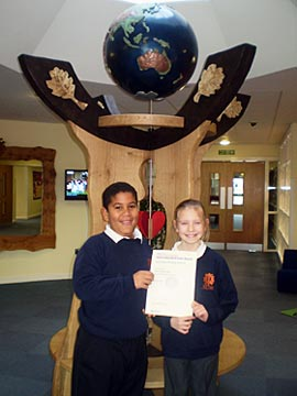 International School Award  - Red Oaks Primary School